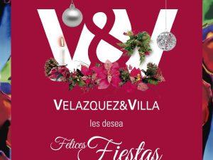 Velazquez y Villa les desea felices fiestas