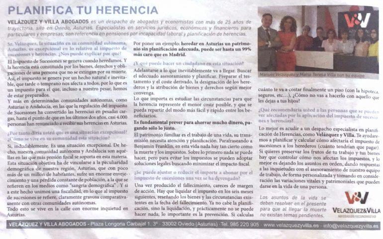 Tributación Herencias Abogados Asturias