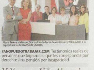 Reportaje en El comercio sobre nuestra iniciativa www.yanopuedotrabajar.com