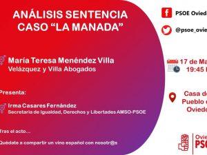 Analizamos la Sentencia de La Manada en La Casa del Pueblo Oviedo